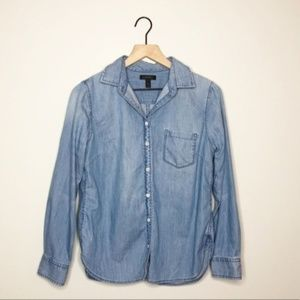 J. Crew Chambray Button Down Blouse